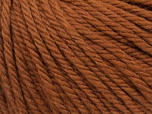 SUPERWASH WOOL BULKY is a bulky weight 100% superwash wool yarn. Perfect stitch definition, and a soft-but-sturdy finished fabric. Projects knit and crocheted in SUPERWASH WOOL BULKY are machine washable! Lay flat to dry. Fiber Content 100% Superwash Wool, Brand ICE, Brown, Yarn Thickness 5 Bulky  Chunky, Craft, Rug, fnt2-42824