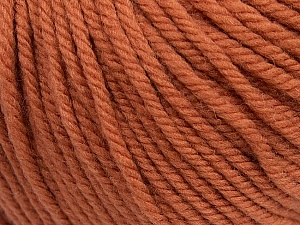 SUPERWASH WOOL BULKY is a bulky weight 100% superwash wool yarn. Perfect stitch definition, and a soft-but-sturdy finished fabric. Projects knit and crocheted in SUPERWASH WOOL BULKY are machine washable! Lay flat to dry. Fiber Content 100% Superwash Wool, Brand ICE, Copper, Yarn Thickness 5 Bulky  Chunky, Craft, Rug, fnt2-42826