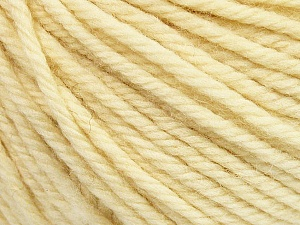 SUPERWASH WOOL BULKY is a bulky weight 100% superwash wool yarn. Perfect stitch definition, and a soft-but-sturdy finished fabric. Projects knit and crocheted in SUPERWASH WOOL BULKY are machine washable! Lay flat to dry. Fiber Content 100% Superwash Wool, Brand ICE, Cream, Yarn Thickness 5 Bulky  Chunky, Craft, Rug, fnt2-42832
