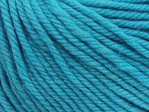 SUPERWASH WOOL BULKY is a bulky weight 100% superwash wool yarn. Perfect stitch definition, and a soft-but-sturdy finished fabric. Projects knit and crocheted in SUPERWASH WOOL BULKY are machine washable! Lay flat to dry. Fiber Content 100% Superwash Wool, Turquoise, Brand ICE, Yarn Thickness 5 Bulky  Chunky, Craft, Rug, fnt2-42839