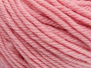 SUPERWASH WOOL BULKY is a bulky weight 100% superwash wool yarn. Perfect stitch definition, and a soft-but-sturdy finished fabric. Projects knit and crocheted in SUPERWASH WOOL BULKY are machine washable! Lay flat to dry. Fiber Content 100% Superwash Wool, Light Pink, Brand ICE, Yarn Thickness 5 Bulky  Chunky, Craft, Rug, fnt2-42845