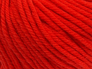 SUPERWASH WOOL BULKY is a bulky weight 100% superwash wool yarn. Perfect stitch definition, and a soft-but-sturdy finished fabric. Projects knit and crocheted in SUPERWASH WOOL BULKY are machine washable! Lay flat to dry. Fiber Content 100% Superwash Wool, Tomato Red, Brand ICE, Yarn Thickness 5 Bulky  Chunky, Craft, Rug, fnt2-42847