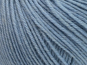 SUPERWASH WOOL is a DK weight 100% superwash wool yarn. Perfect stitch definition, and a soft-but-sturdy finished fabric. Projects knit and crocheted in SUPERWASH WOOL are machine washable! Lay flat to dry. Fiber Content 100% Superwash Wool, Indigo Blue, Brand ICE, Yarn Thickness 3 Light  DK, Light, Worsted, fnt2-42926