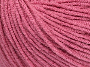 Fiber Content 50% Cotton, 50% Acrylic, Rose Pink, Brand ICE, Yarn Thickness 3 Light  DK, Light, Worsted, fnt2-43070