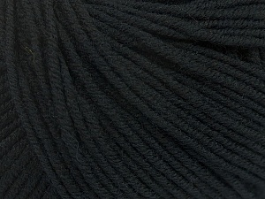 SUPERWASH MERINO EXTRAFINE is a DK weight, 100% extra fine Italian-style superwash merino wool making it extremely soft, as well as durable.  High twist and smooth texture gives unbelievable stitch definition making this a good choice for any project that you want to show off your stitch work. Projects knit and crocheted in SUPERWASH MERINO EXTRAFINE are machine washable! Lay flat to dry. Do not bleach. Do not iron Fiber Content 100% Superwash Extrafine Merino Wool, Brand ICE, Black, Yarn Thickness 3 Light  DK, Light, Worsted, fnt2-43139