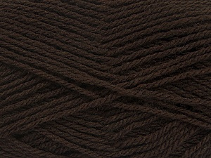 Fiber Content 70% Acrylic, 30% Wool, Brand ICE, Dark Brown, Yarn Thickness 2 Fine  Sport, Baby, fnt2-43362