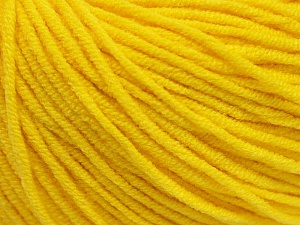 Fiber Content 50% Acrylic, 50% Cotton, Yellow, Brand ICE, Yarn Thickness 3 Light  DK, Light, Worsted, fnt2-43861