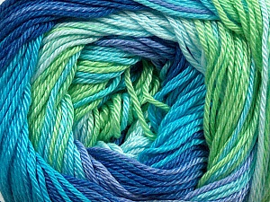 Fiber Content 100% Mercerised Cotton, Turquoise, Lilac, Brand ICE, Green, Blue Shades, Yarn Thickness 2 Fine  Sport, Baby, fnt2-44695