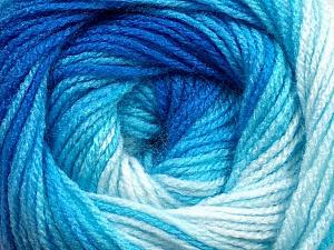 Fiber Content 100% Acrylic, Brand ICE, Blue Shades, Yarn Thickness 3 Light  DK, Light, Worsted, fnt2-44711