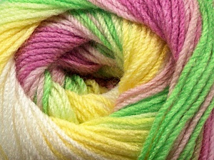 Fiber Content 100% Acrylic, Yellow, White, Orchid, Brand ICE, Green, Yarn Thickness 3 Light  DK, Light, Worsted, fnt2-44713