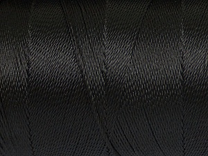 Fiber Content 100% Polyester, Brand ICE, Black, Yarn Thickness 0 Lace  Fingering Crochet Thread, fnt2-44821