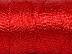 Fiber Content 100% Polyester, Red, Brand ICE, Yarn Thickness 0 Lace  Fingering Crochet Thread, fnt2-44835