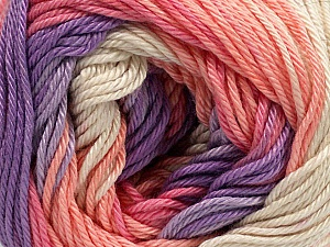 Fiber Content 100% Mercerised Cotton, Salmon, Pink, Lilac, Brand ICE, Green, Yarn Thickness 2 Fine  Sport, Baby, fnt2-44926