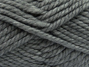 Fiber Content 55% Acrylic, 45% Wool, Brand ICE, Grey, Yarn Thickness 6 SuperBulky  Bulky, Roving, fnt2-45122