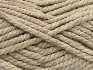 Fiber Content 55% Acrylic, 45% Wool, Brand ICE, Beige, Yarn Thickness 6 SuperBulky  Bulky, Roving, fnt2-45123
