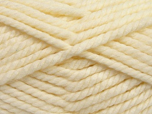Fiber Content 55% Acrylic, 45% Wool, Brand ICE, Cream, Yarn Thickness 6 SuperBulky  Bulky, Roving, fnt2-45126