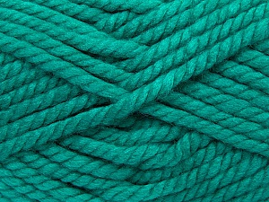 Fiber Content 55% Acrylic, 45% Wool, Brand ICE, Emerald Green, Yarn Thickness 6 SuperBulky  Bulky, Roving, fnt2-45130