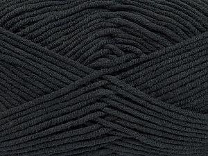 Fiber Content 55% Cotton, 45% Acrylic, Brand ICE, Black, Yarn Thickness 4 Medium  Worsted, Afghan, Aran, fnt2-45136