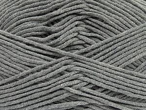 Fiber Content 55% Cotton, 45% Acrylic, Brand ICE, Grey, Yarn Thickness 4 Medium  Worsted, Afghan, Aran, fnt2-45137
