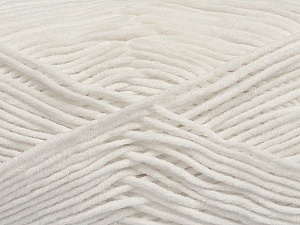 Fiber Content 55% Cotton, 45% Acrylic, White, Brand ICE, Yarn Thickness 4 Medium  Worsted, Afghan, Aran, fnt2-45138