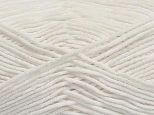 Fiber Content 55% Cotton, 45% Acrylic, White, Brand ICE, Yarn Thickness 4 Medium  Worsted, Afghan, Aran, fnt2-45138