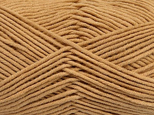 Fiber Content 55% Cotton, 45% Acrylic, Brand ICE, Cafe Latte, Yarn Thickness 4 Medium  Worsted, Afghan, Aran, fnt2-45141
