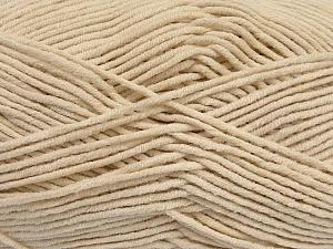 Fiber Content 55% Cotton, 45% Acrylic, Light Beige, Brand ICE, Yarn Thickness 4 Medium  Worsted, Afghan, Aran, fnt2-45142
