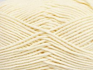 Fiber Content 55% Cotton, 45% Acrylic, Brand ICE, Cream, Yarn Thickness 4 Medium  Worsted, Afghan, Aran, fnt2-45143