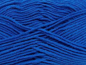 Fiber Content 55% Cotton, 45% Acrylic, Royal Blue, Brand ICE, Yarn Thickness 4 Medium  Worsted, Afghan, Aran, fnt2-45152