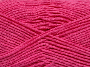 Fiber Content 55% Cotton, 45% Acrylic, Brand ICE, Candy Pink, Yarn Thickness 4 Medium  Worsted, Afghan, Aran, fnt2-45155