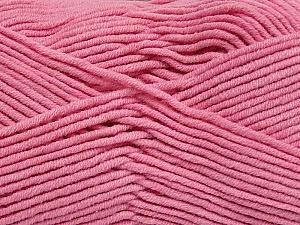 Fiber Content 55% Cotton, 45% Acrylic, Light Pink, Brand ICE, Yarn Thickness 4 Medium  Worsted, Afghan, Aran, fnt2-45156
