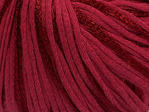 Fiber Content 79% Cotton, 21% Viscose, Brand ICE, Burgundy, Yarn Thickness 3 Light  DK, Light, Worsted, fnt2-45188