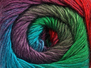 Fiber Content 50% Acrylic, 50% Wool, Turquoise, Red, Purple, Khaki, Brand ICE, Green, Yarn Thickness 2 Fine  Sport, Baby, fnt2-45318