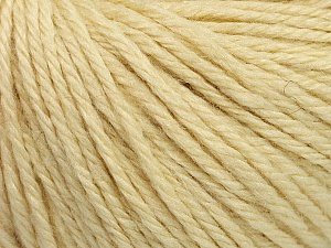 Fiber Content 40% Merino Wool, 40% Acrylic, 20% Polyamide, Brand ICE, Cream, Yarn Thickness 3 Light  DK, Light, Worsted, fnt2-45808