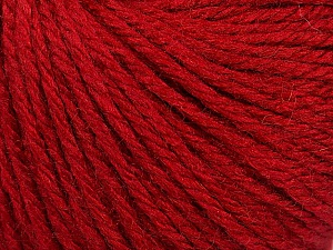 Fiber Content 40% Merino Wool, 40% Acrylic, 20% Polyamide, Brand ICE, Dark Red, Yarn Thickness 3 Light  DK, Light, Worsted, fnt2-45809