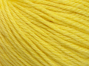 Fiber Content 40% Merino Wool, 40% Acrylic, 20% Polyamide, Light Yellow, Brand ICE, Yarn Thickness 3 Light  DK, Light, Worsted, fnt2-45815