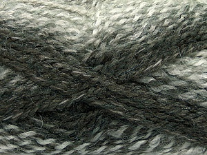 Fiber Content 55% Acrylic, 25% Mohair, 20% Alpaca, Brand Ice Yarns, Grey Shades, Yarn Thickness 4 Medium  Worsted, Afghan, Aran, fnt2-46205