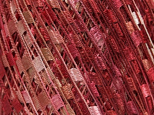 Trellis  Fiber Content 100% Polyester, Salmon, Pink, Brand Ice Yarns, Burgundy, Yarn Thickness 5 Bulky  Chunky, Craft, Rug, fnt2-46512