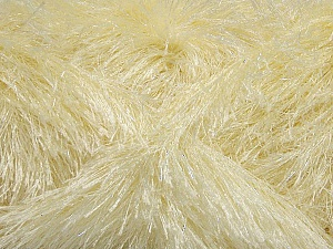 Fiber Content 80% Polyester, 20% Lurex, Brand Ice Yarns, Cream, Yarn Thickness 5 Bulky Chunky, Craft, Rug, fnt2-46550