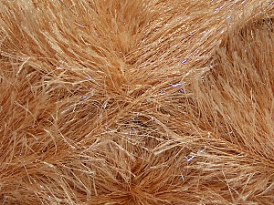 Fiber Content 80% Polyester, 20% Lurex, Brand Ice Yarns, Cafe Latte, Yarn Thickness 5 Bulky Chunky, Craft, Rug, fnt2-46551