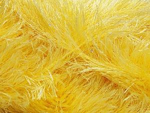 Fiber Content 80% Polyester, 20% Lurex, Light Yellow, Brand Ice Yarns, Yarn Thickness 5 Bulky Chunky, Craft, Rug, fnt2-46552