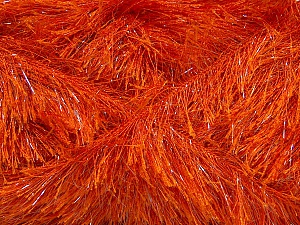 Fiber Content 80% Polyester, 20% Lurex, Orange, Brand ICE, Yarn Thickness 5 Bulky  Chunky, Craft, Rug, fnt2-46554