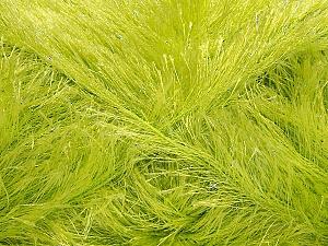 Fiber Content 80% Polyester, 20% Lurex, Light Green, Brand Ice Yarns, Yarn Thickness 5 Bulky Chunky, Craft, Rug, fnt2-46559