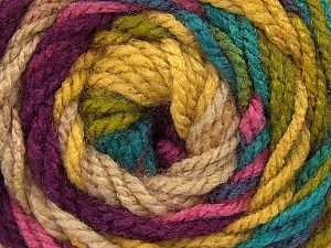 Fiber Content 100% Acrylic, Turquoise, Purple, Pink, Brand ICE, Green, Beige, Yarn Thickness 4 Medium  Worsted, Afghan, Aran, fnt2-46967