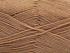 Fiber Content 60% Merino Wool, 40% Acrylic, Brand ICE, Cafe Latte, Yarn Thickness 2 Fine  Sport, Baby, fnt2-47165