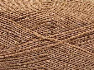 Fiber Content 60% Merino Wool, 40% Acrylic, Brand ICE, Cafe Latte, Yarn Thickness 2 Fine  Sport, Baby, fnt2-47165