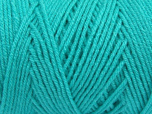 Items made with this yarn are machine washable & dryable. Fiber Content 100% Dralon Acrylic, Brand ICE, Aqua, Yarn Thickness 4 Medium  Worsted, Afghan, Aran, fnt2-47187