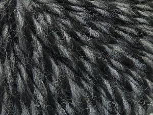 Fiber Content 70% Acrylic, 30% Wool, Brand ICE, Grey, Black, Yarn Thickness 4 Medium  Worsted, Afghan, Aran, fnt2-47712