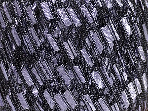Trellis  Fiber Content 100% Polyester, Lilac, Brand Ice Yarns, Black, Yarn Thickness 5 Bulky  Chunky, Craft, Rug, fnt2-47987