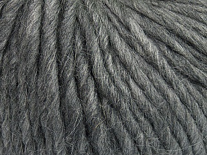 Fiber Content 50% Merino Wool, 25% Acrylic, 25% Alpaca, Brand ICE, Grey, Yarn Thickness 6 SuperBulky  Bulky, Roving, fnt2-48095
